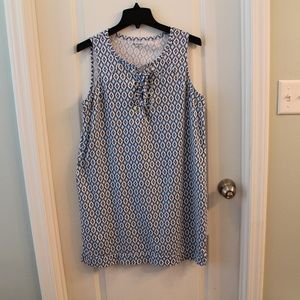 New Directions Casual Cotton Dress SZ M